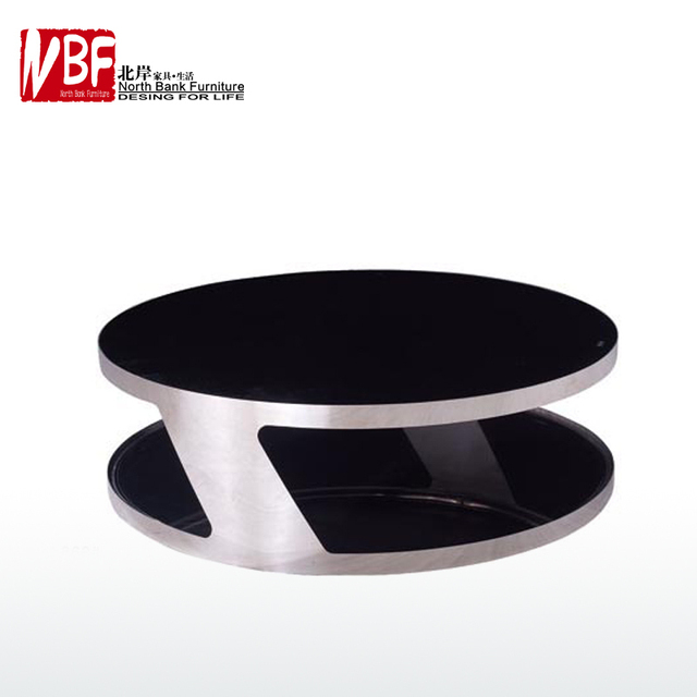 Delicieux North Shore Furniture Chrono Stainless Steel Round Coffee Table Coffee Table  B European Modern Metal Living