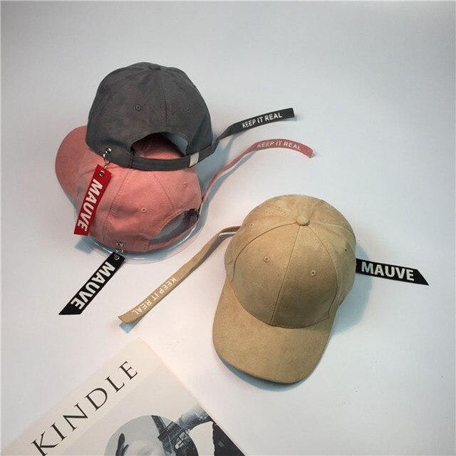 85b3c42f7fb Baseball cap Long Strap Belt Snapback hats for men women brand hip hop cap  dad caps summmer visor curled peak hip hop cap
