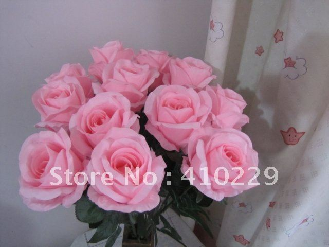 Free Shipping  Artificial Rose Flowers ,Wedding & Home Decoration Mix Order 13 Colors