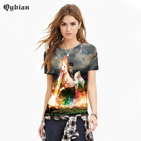 2017 Newest women T shirt Men/Women Lovers Short sleeve Clothing Cat knight Print O Neck Casual t-shirts