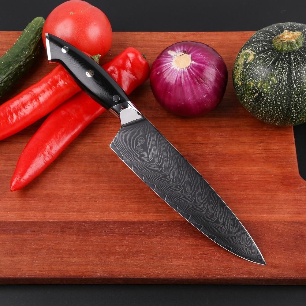 Ev ve Bahçe'ten Mutfak Bıçakları'de Mokithand 8 Inç Şam Çelik Şef Bıçaklar Yüksek Karbon Japon Mutfak Bıçağı Profesyonel Paslanmaz Et Balık Fileto Bıçağı'da  Grup 2