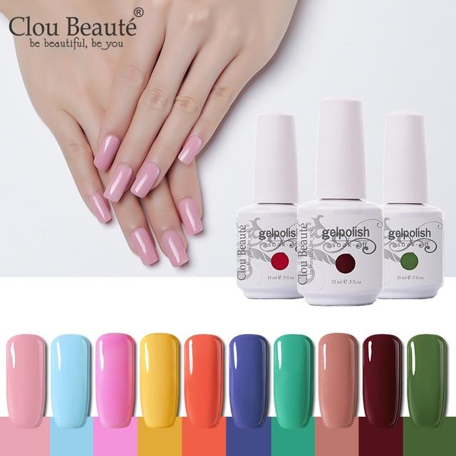 Clou Beaute Gel 15ml Semi Polish Permanent Nail UV 20pcs