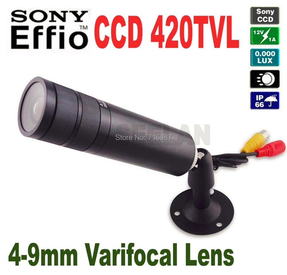 ФОТО Mini Bullet  camera 4-9mm Varifocal Lens 1/3