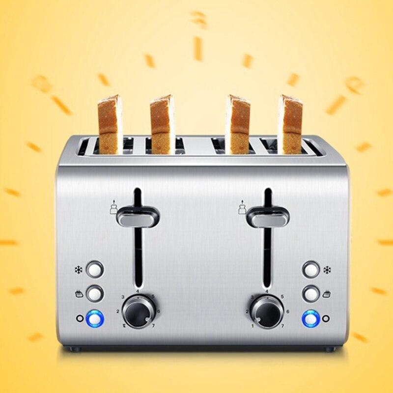 DMWD 1400 Вт Нержавеющая сталь тостер для хлеба Torradeira дома Завтрак машина бутербродница 4 шт. машина выпечки хлеба 220 В