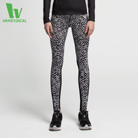 Yoga Pants Women Leggings Running Sports Jogging Tights Yoga Fitness Workout Pants Black White Print Dot