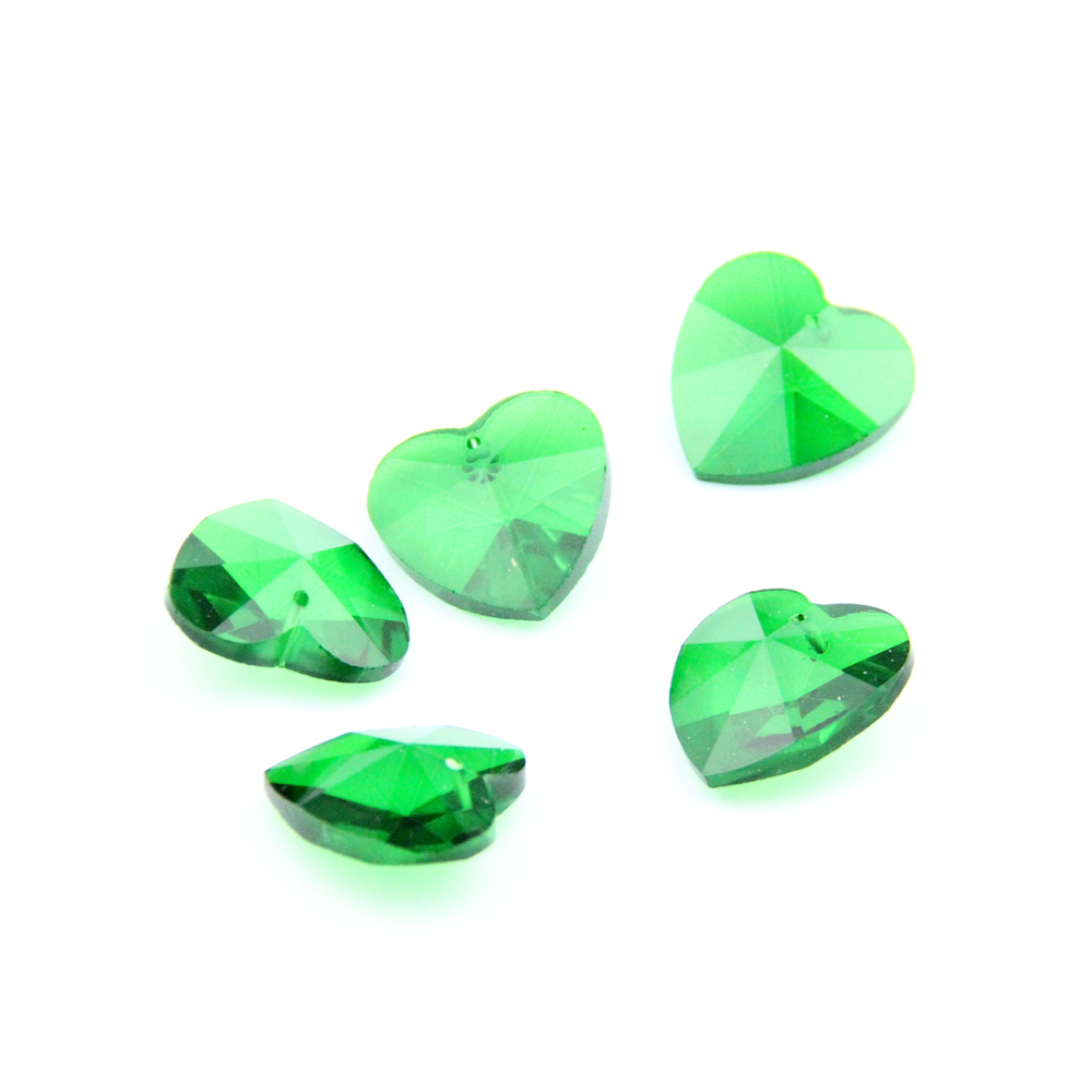 Pack grande gotas de ancho perlas 80 piezas 13 x 13 mm lila verde acrílico nuevo