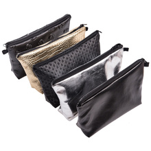 Women Portable Zipper Cosmetic Bag Holder Clutch Pouch Ladie