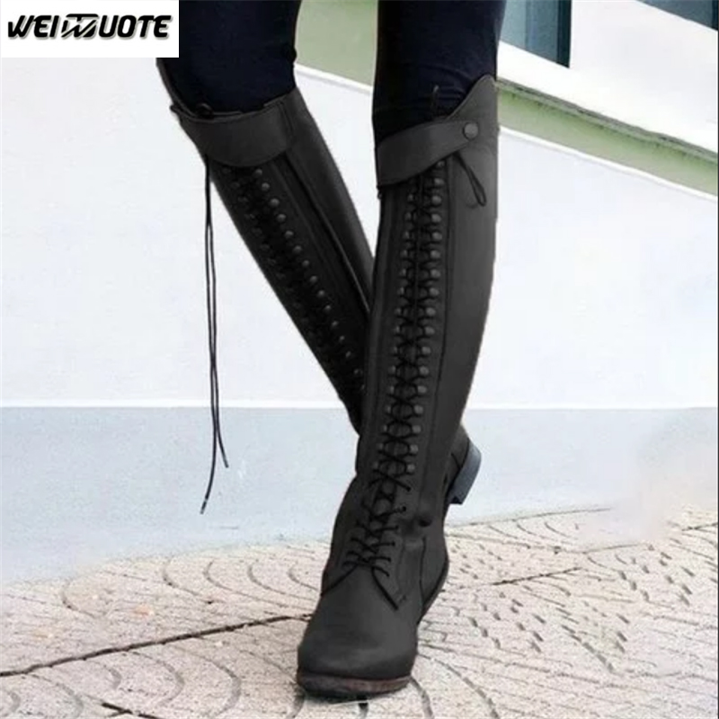 Fashion Horse Riding Boots Lace
