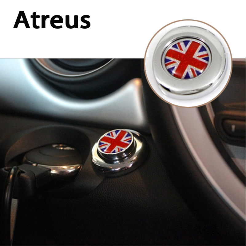 Atreus 1Set 3D Cool Start Button Decorative Car Sticker Protective Auto Accessories For Mini Cooper R56