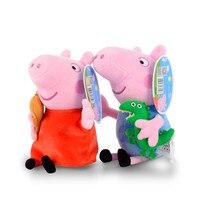 2 pcs/ensemble Peppa Pig StuffedPlush Jouets 19/30 cm Peppa Pig George Famille Parti Poupées Pour Les Filles Cadeaux Animaux Jouets en peluche Originale