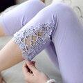 2016 Новый Материнства леггинсы Крючком hollow материнство брюки одежда для беременных одежды для беременных Высокой Талией живота брюки
