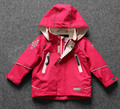 free shipping- children/kids girls rose color jacket, waterproof & windproof jacket, hooded outdoor jacket, size 80 to 128