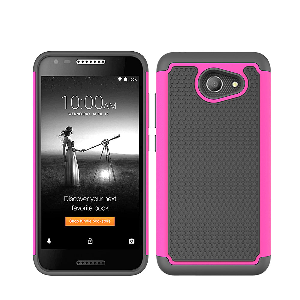 pretty nice 72846 02167 US $2.52 15% OFF|For Alcatel Kora / A30 / ZIP LTE A577VL A576BL Heavy Duty  Hybrid Armor Case Dual Layer Soft TPU & Hard PC Back Shockproof Cover-in ...