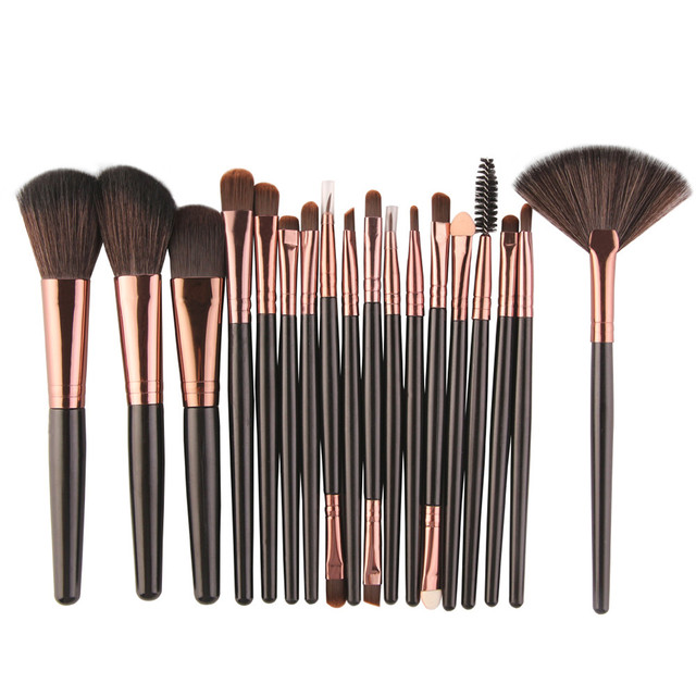 18 unids/set pinceles para pinceles de maquillaje base sombra de ojos delineador de ojos maquillaje de labios pinceles conjunto profesional JUL12