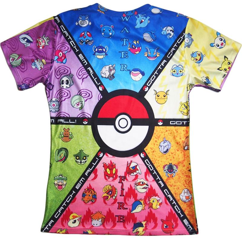 dde7064e Funny Pokemon 3d t shirt Pokeball Deathstar T Shirt summer style ...