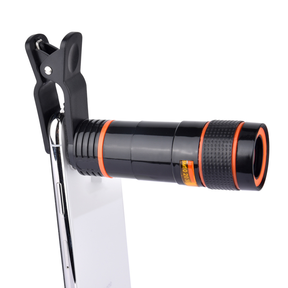 Universal 12X zoom telescopio lente para teléfono lectura ojo lejos
