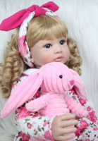 Princess Toddler Girls Babies Dolls With Plush Rabbit