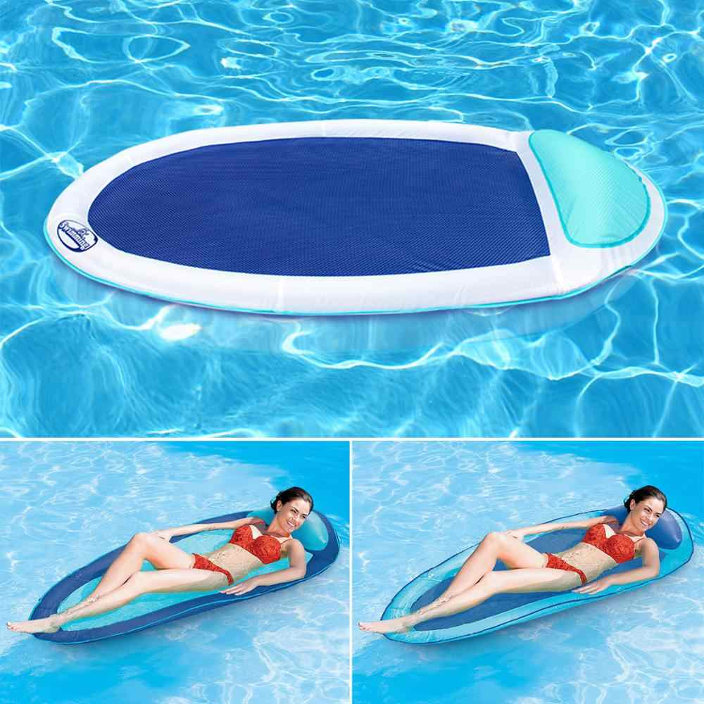 Beach Floating Beach Floating Bed Smooth Soft Comfortable Water Float Mat Party Toys Kids Adults Raft Lounge Swimming Pool Lounger Float Hammock Water Hammock Pool Float