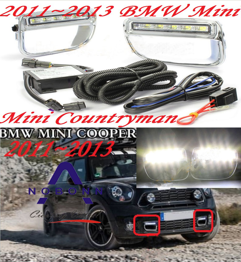 Mini daytime light;2011~2014, Free ship!LED,Mini fog light,2ps/set;Mini DAY LAMP