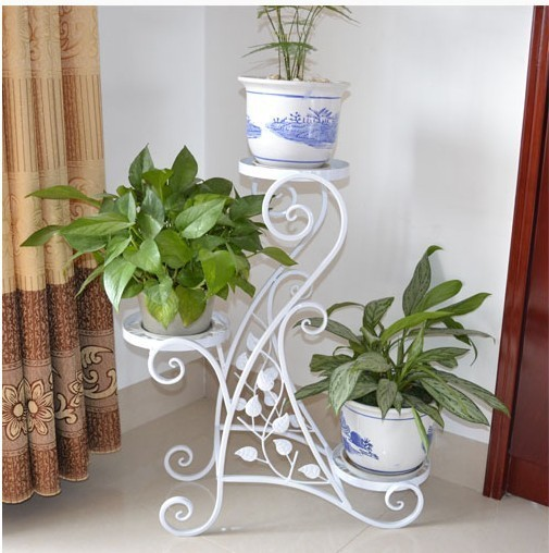 Free shipping decorative European style Iron craft flower stand plant Rack shelves iron decoration handicraft household product