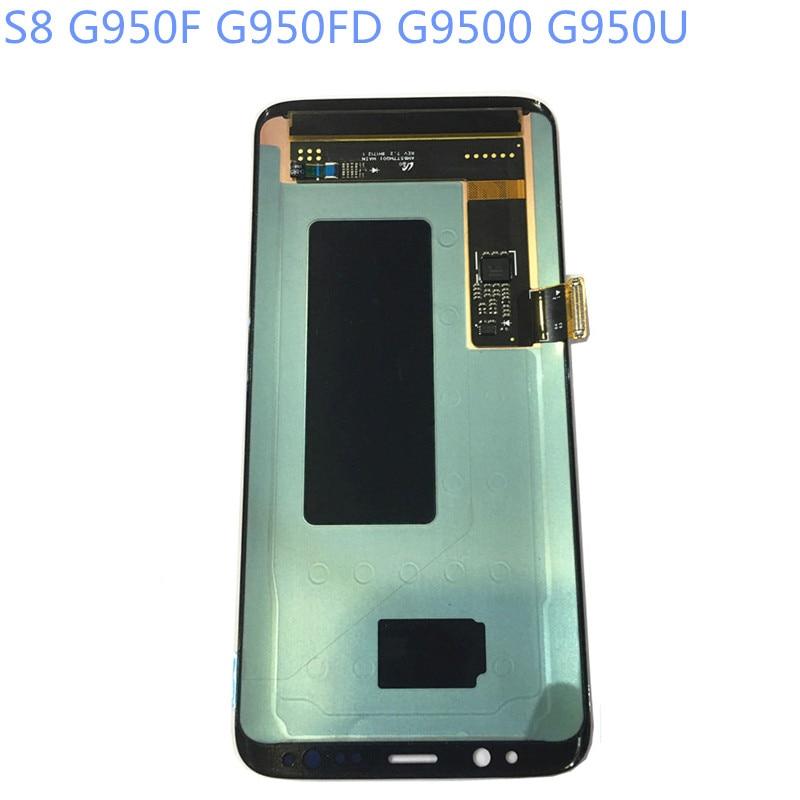 New Super AMOLED LCD S8 G950F G950FD G9500 G950U Affichage 100% Testé Travail Tactile Assemblée D'écran Pour Samsung Galaxy s8 lcd