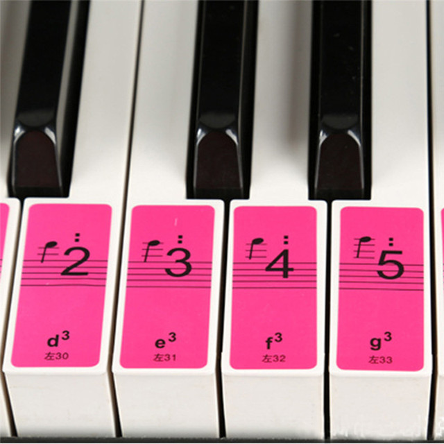 4PCS 88 Keys Piano Keyboard Sound Name Stickers Piano Keyboard 61Keys Electronic Keyboard 88Keys Stickers Music Decal Label Note 2