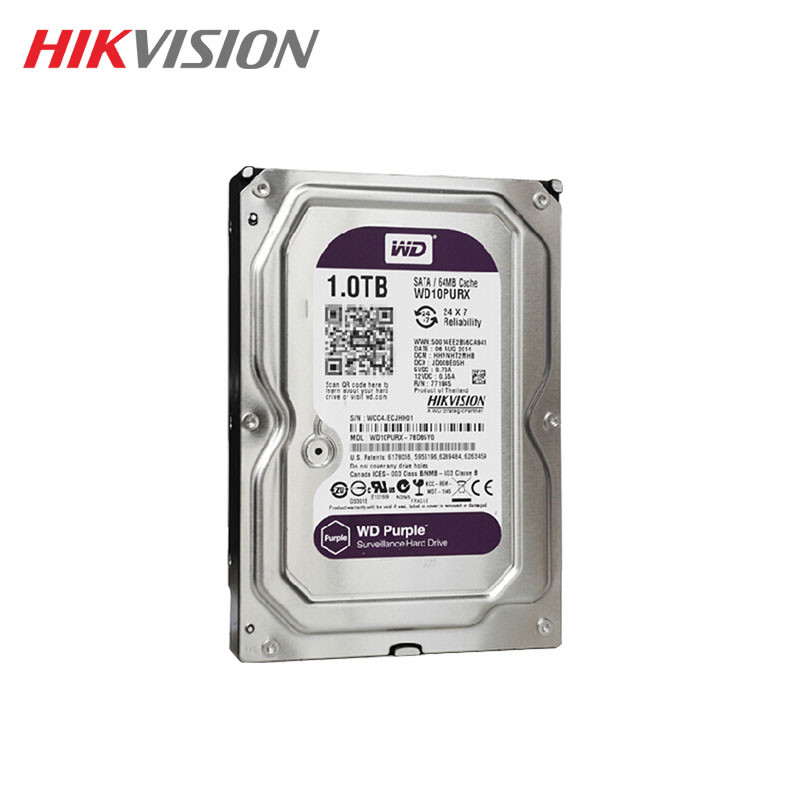 Western Digital WD Purple 1TB hdd NVR system sata 3.5 Surveillance internal hard disk security systems disque dur desktop server