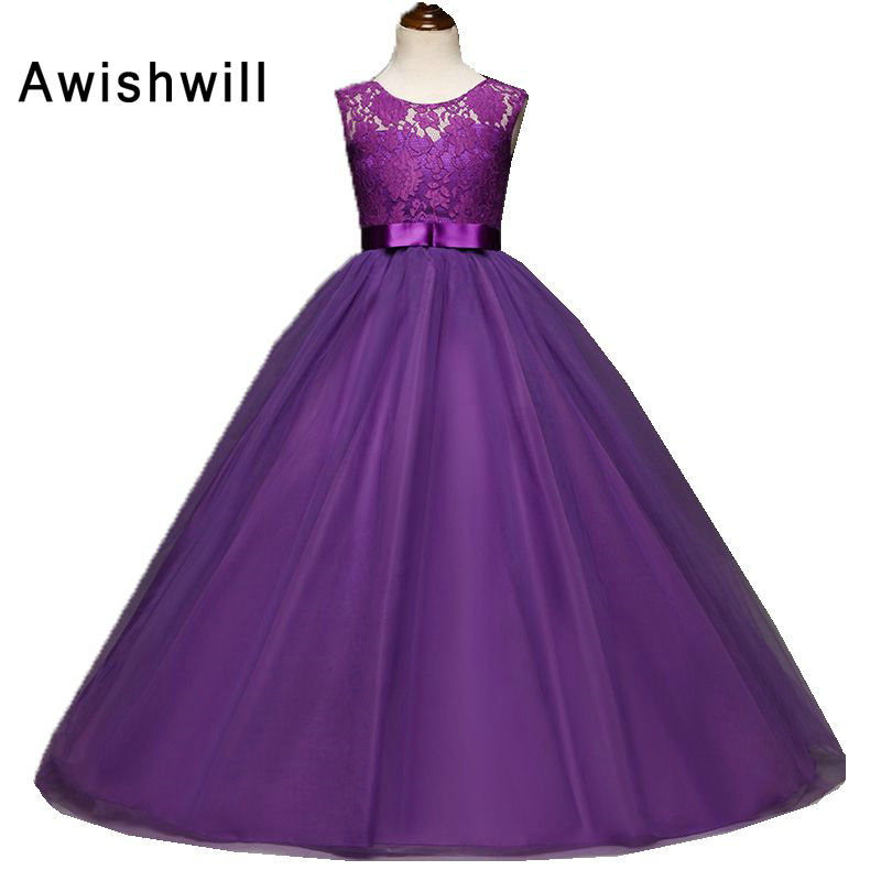 2018 Romantic Puffy Ball Gown Flower Girl Dress for Weddings Lace ...