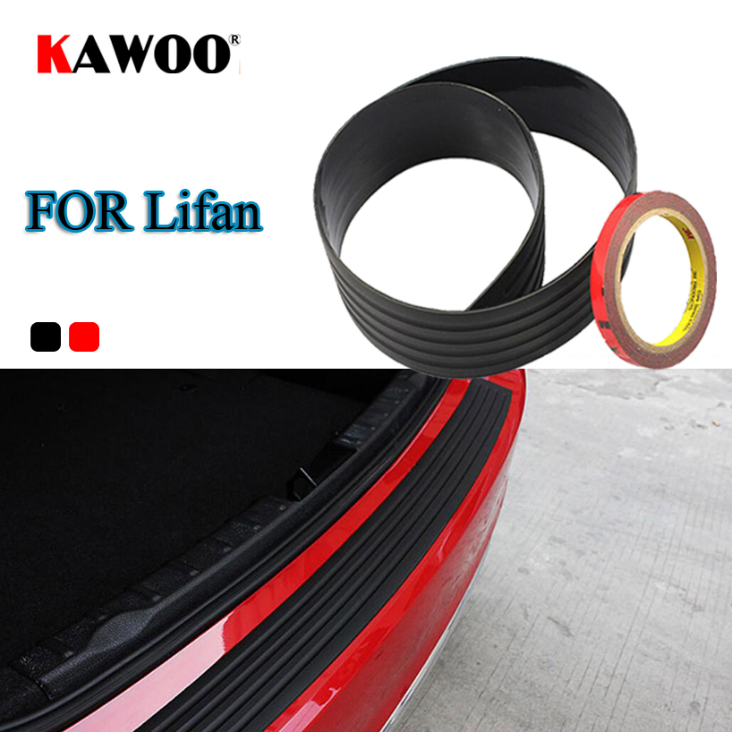 KAWOO For LIFAN 520 320 330 530 630 720 620 X50 X60 Rubber Rear Guard Bumper Protect Trim Cover Sill Mat Pad Car Styling trackback