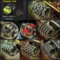50pcs/lot Flat twisted wire Fused clapton coils Hive premade wrap wires Alien Mix twisted Quad Tiger Heating Resistance rda coil