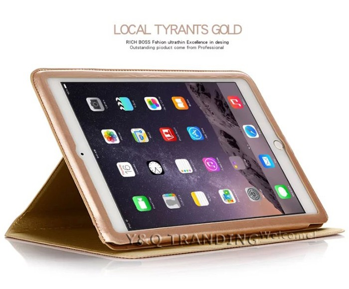 Ultrathin Cowhide Genuine Leather Case for Apple iPad Real Leather Business Stand Smart Cover for iPad  (6)
