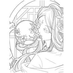 Image 4 - 타락한 도시 중국 스타일 색칠하기 책 안티 스트레스 색칠하기 책 및 성인/어린이/어린이를위한 색칠 자습서