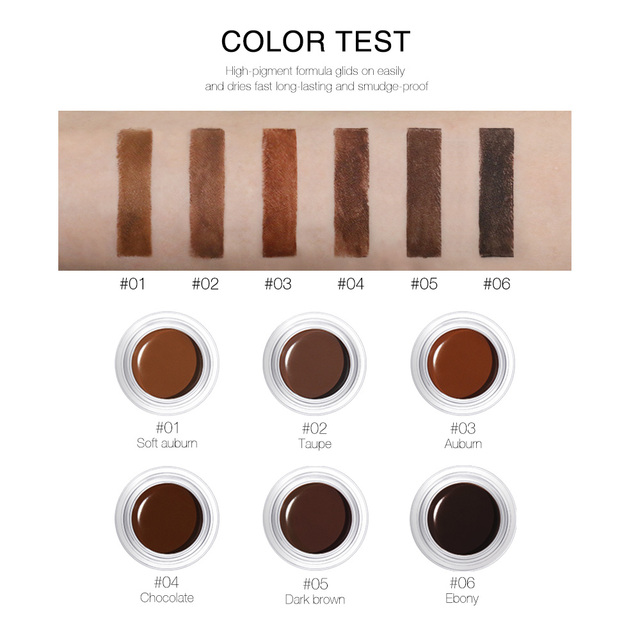 O.TWO.O Eyebrow Gel 6 Colors 3D Natural Brown Eye Brow Shade Make Up Profesional Long Lasting Brow Paint Cosmetics With Brush 1