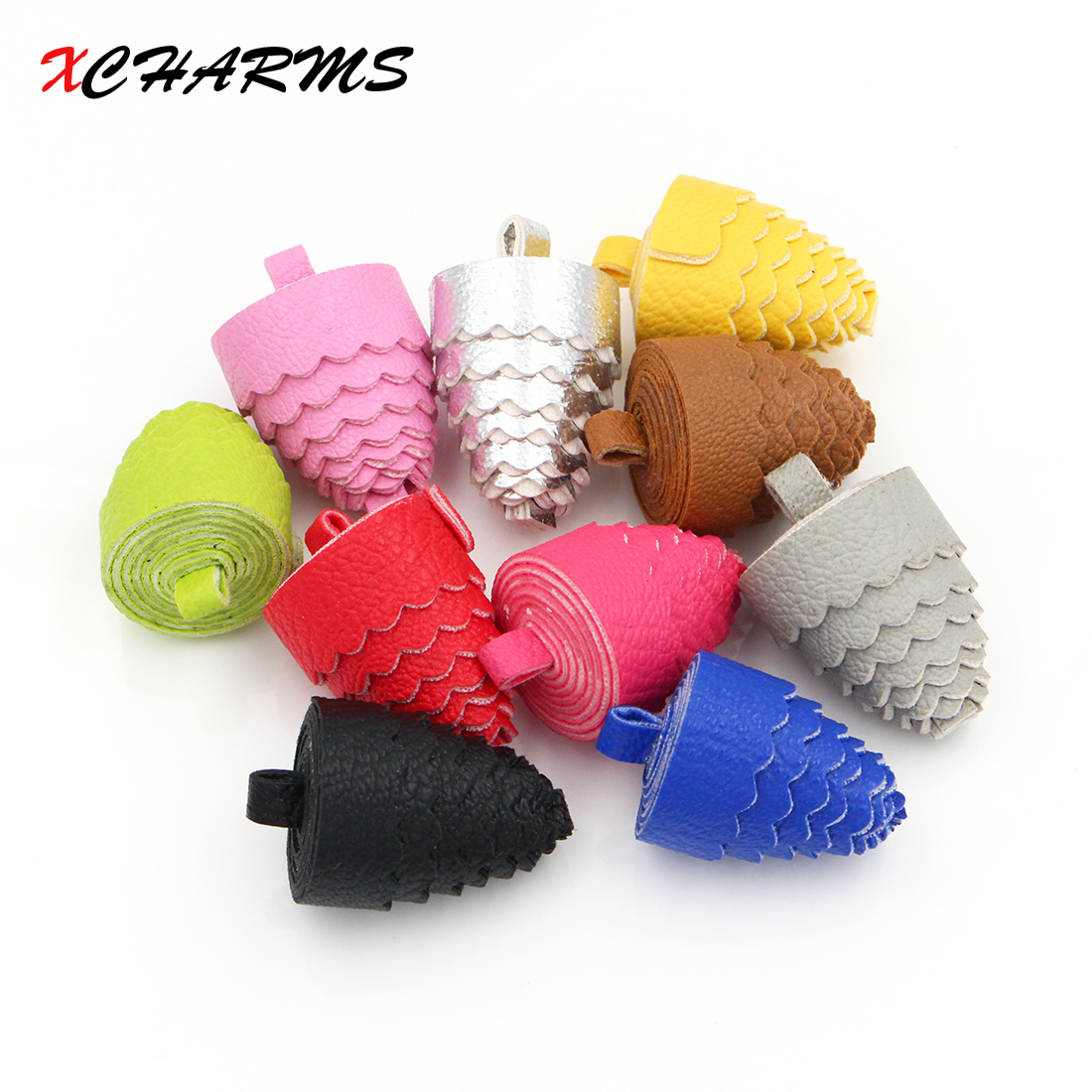 XCHAMRS 35*23mm Diy Handmade Loose ball Tassel For Jewelry Making DIY Acessories Suede Tassels for Key Rings for earring making