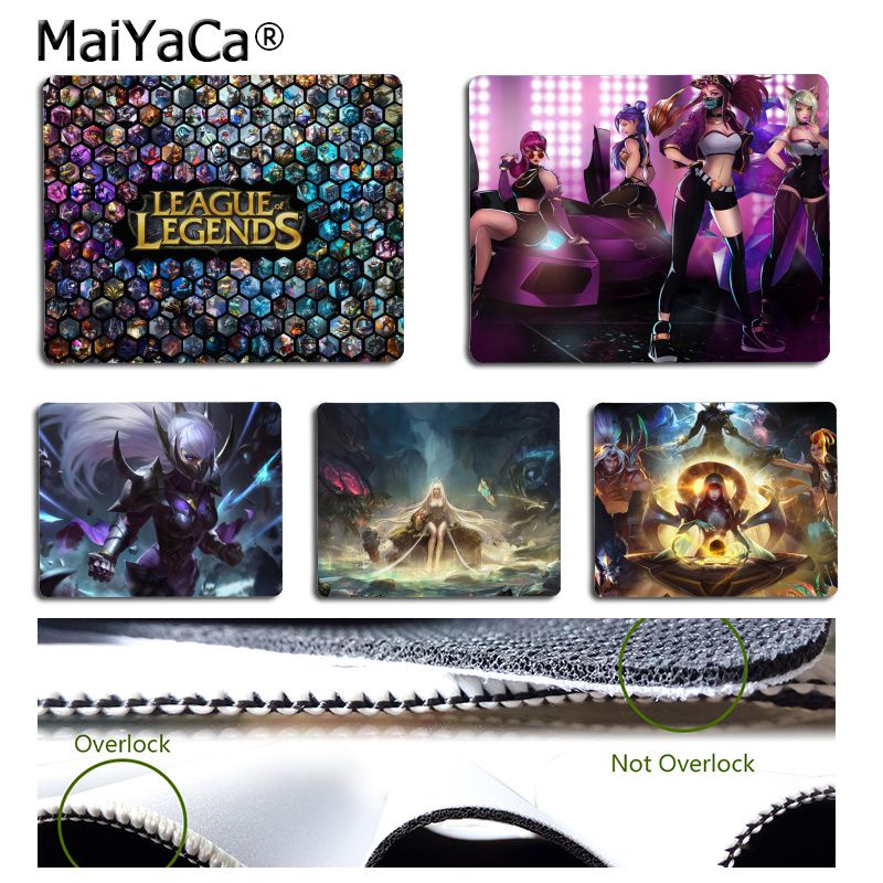 MaiYaCa Funny League of legends Comfort small Mouse Mat Gaming Mouse pad Simple Design Speed Game Mouse Pads