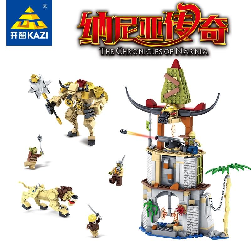 KAZI 87021 Chronicles of Narnia Building Blocks Toys 927PCS Battle in Tauren Village Model Construction Bricks Educational Legoe