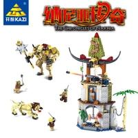KAZI 87021 Chronicles of Narnia Building Blocks Toys 927PCS Battle in Tauren Village Construction Bricks Educational Legoings