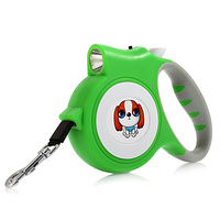 5M Automatic Retractable Dog Leash With LED Light Non Slip Handle Dog Leash For Small Medium