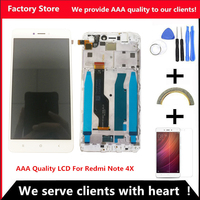Q Y QYJOY AAA LCD Frame For Xiaomi Redmi Note 4X LCD Display Screen For Redmi