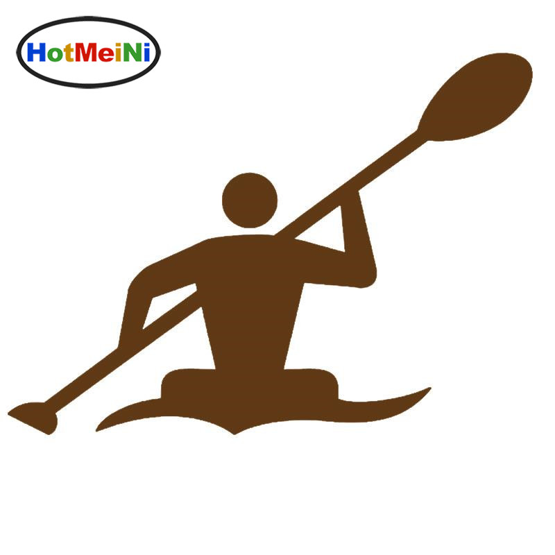 HotMeiNi Car Sticker Jdm styling Window Bumper Decal Truck Fridge Waterproof Dynamic Game Canoe Athlete Oars Sports 13*11 cm ...
