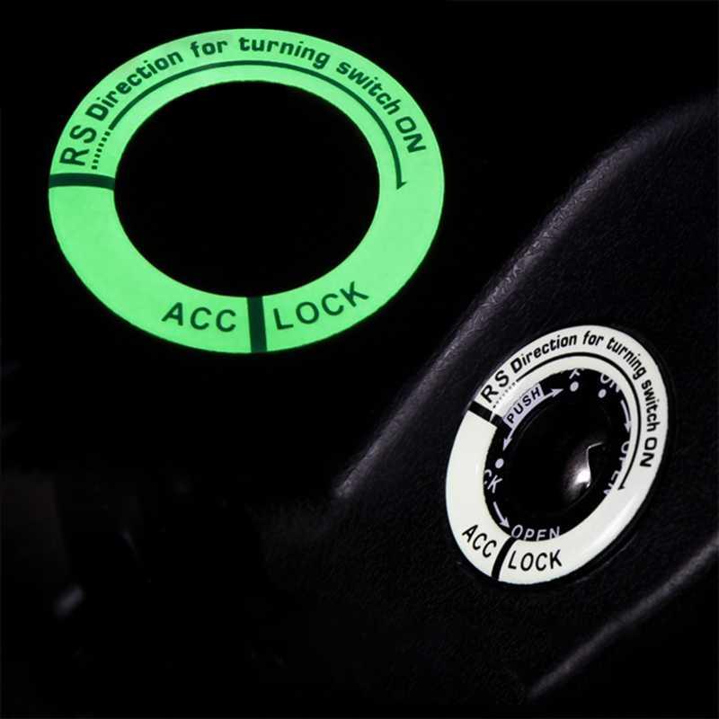 حلقة مفتاح مضيئة ديكور ملصق تصفيف السيارة مفتاح الإشعال ملصقا واقية اكسسوارات السيارات الداخلية