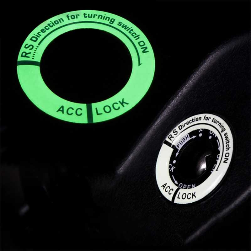 Lichtgevende Sleutelhanger Decor Sticker Auto Styling Contactslot Beschermende Sticker Auto Interieur Accessoires