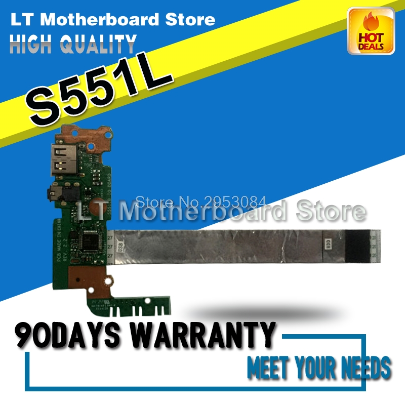 USB IO Board With Cable For ASUS S551L S551LN V551 K551 K551L S551LB Laptop Audio Interface Board Sound Card Reader Board