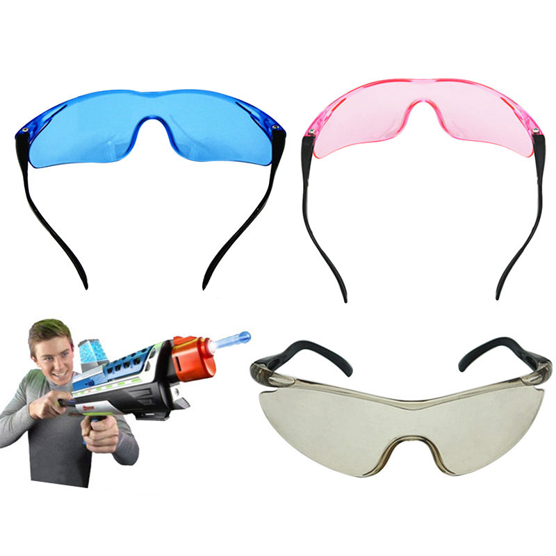 cf47acd81b10f Practical Safety Glasses Clear Lens Eye Protection Safety Goggles CS Game  Toy Water Bullet Gun Wear