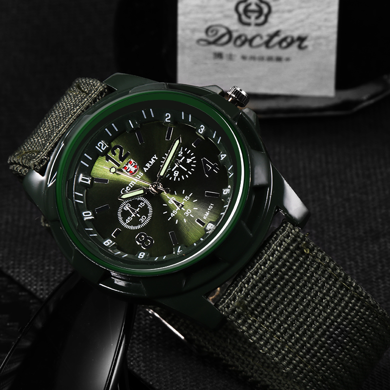 2018 Men Nylon Band Military Watch Men Gemius Army Watch High Quality Quartz Movement Men Sports Watch Casual Wristwatches