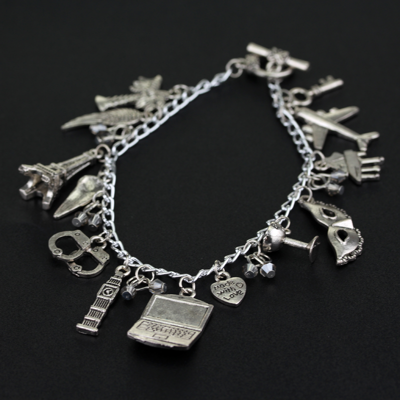 Drop Shipping Movie Jewelry 50 Fifty Shades of Grey Handcuffs Hand catenary charm Bracelet Handcuffs crime jewelry