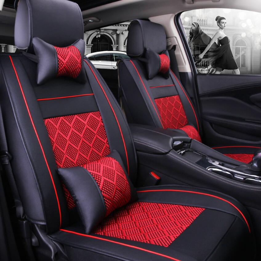 ( Front + Rear ) Special Leather car seat cover For Benz A B C D E S series Vito Viano Sprinter Maybach CLA CLK auto accessories image