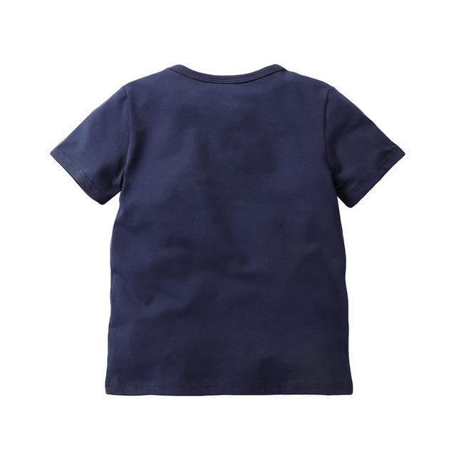 BOYS Clothing Summer Brand Children Boys Cartoon Dinosaur Letter Print 100% Cotton T-shirt Tops Shirts Tee Summer boy clothes