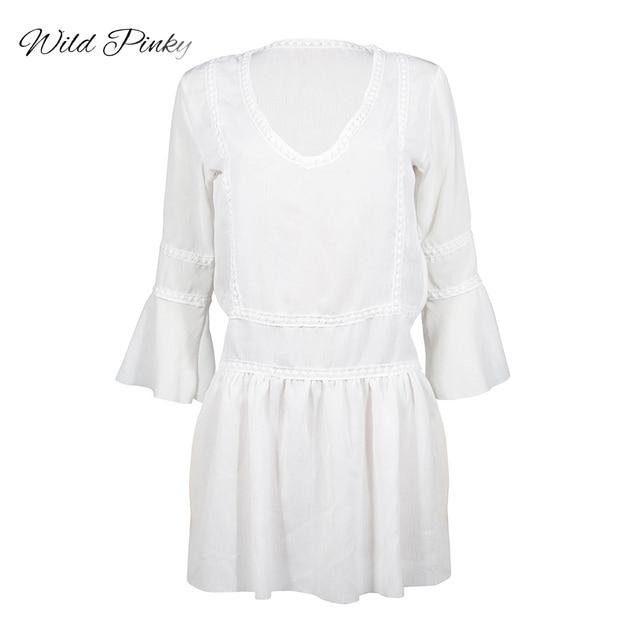 Vintage Dress Boho Ruffles...