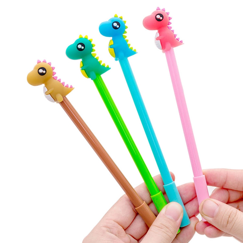 Style; In 0.38mm Kawaii Creative Dinosaur Gel Pen Cat Signature Pen Escolar Papelaria For Office School Writing Supplies Stationery Gift Fashionable
